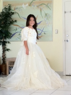 Ten Year Old Models Wedding Gown