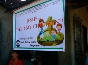 Feeding programs are popular ways to share the gospel of Christ with children in remote areas.