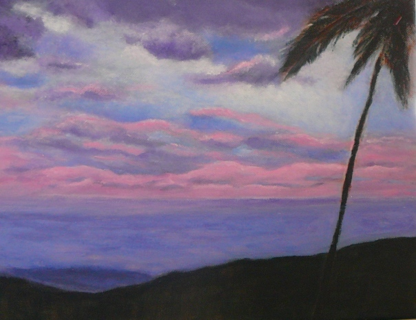 Acrylic painting Big Island, Hawaii.