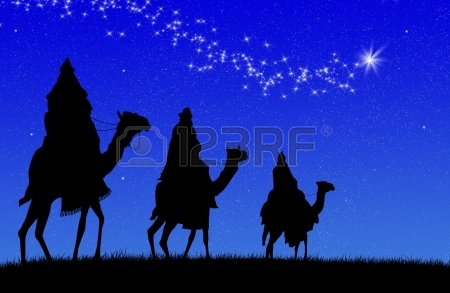 Three Magi Following Star