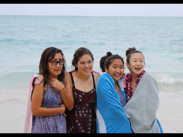 High School classmates after their water baptism!