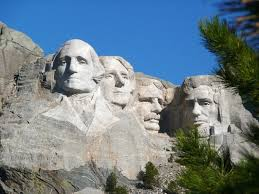Great leaders who preserved the Republic in the 1930's.  Mt Rushmore National Monument, S. Dakota.
